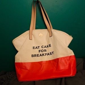 "Kate Spade ""Eat Cake for Breakfast"" tote"